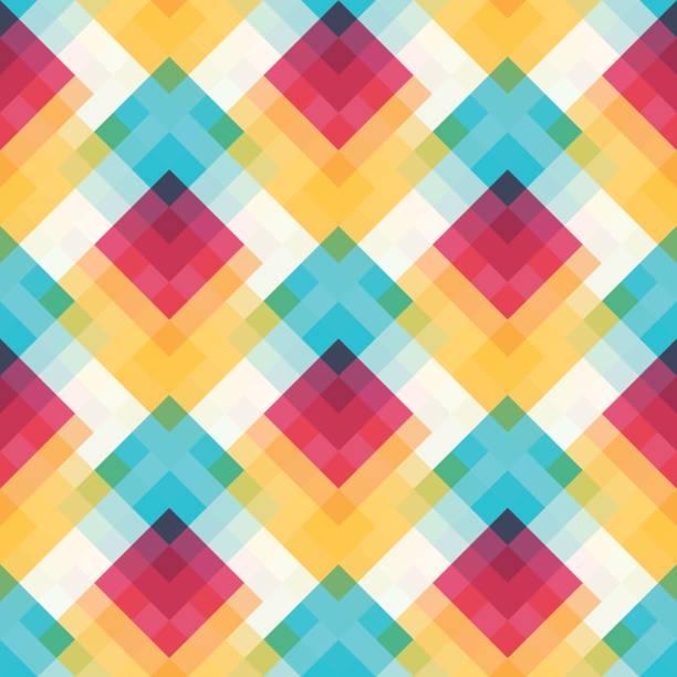 nahtlose geometrische muster  - pastellgelb stock-grafiken, -clipart, -cartoons und -symbole