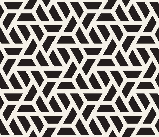 seamless geometric pattern - бесшовный узор stock illustrations
