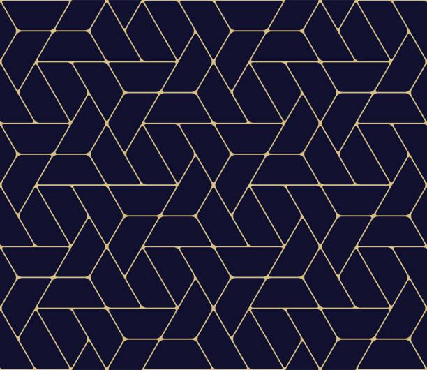 kesintisiz geometrik desen - zarafet stock illustrations