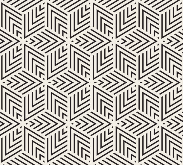 seamless geometric pattern - repetition stock illustrations