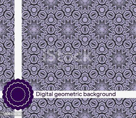 istock Seamless geometric pattern. Vector illustration for interior design, invitation, wallpaper 1306405750