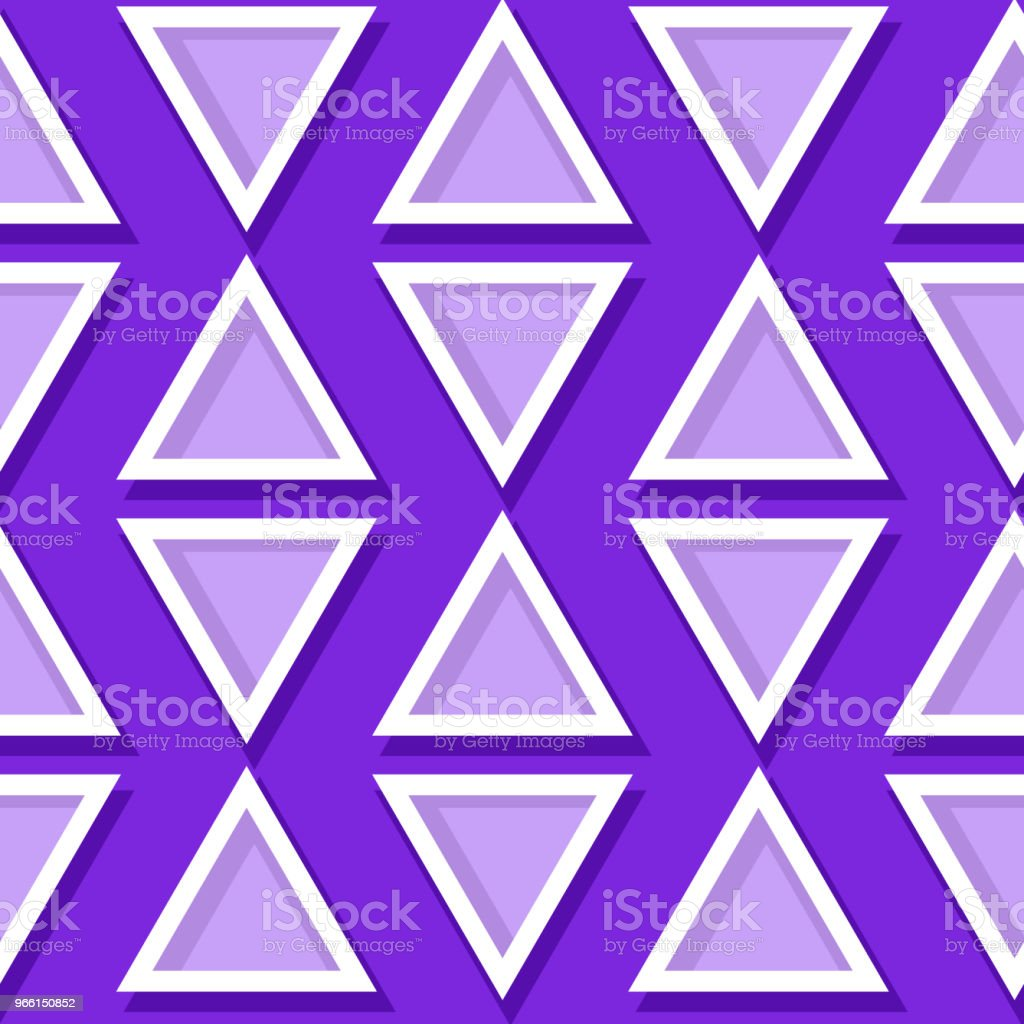 Seamless geometric pattern. Violet and lilac 3d design - arte vettoriale royalty-free di Astratto