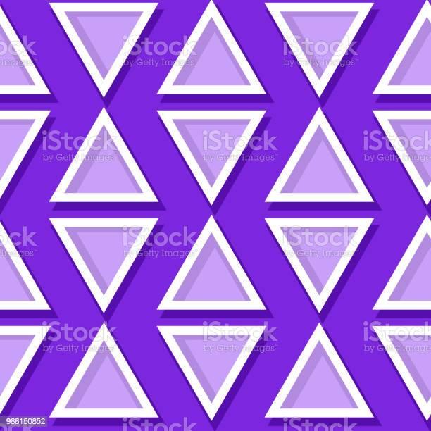 Seamless Geometric Pattern Violet And Lilac 3d Design - Arte vetorial de stock e mais imagens de Abstrato
