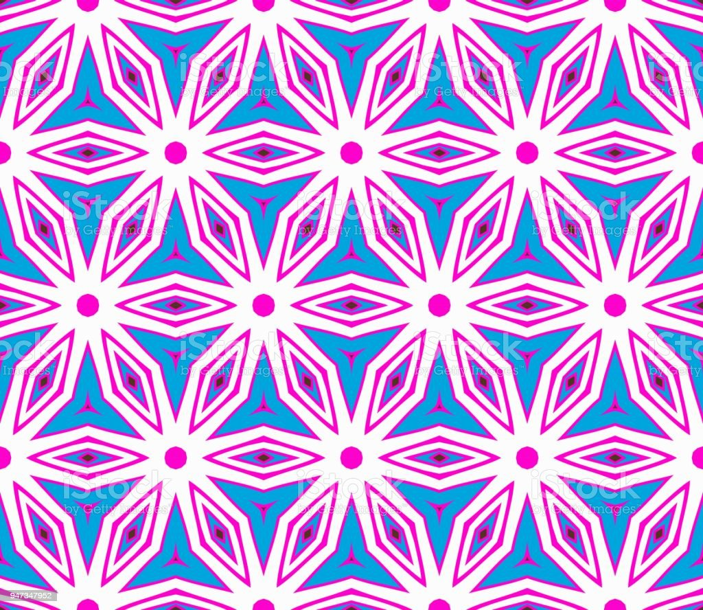 Seamless Geometric Pattern With Modern Style Ornament On Color Background For Wallpaper Cover Book