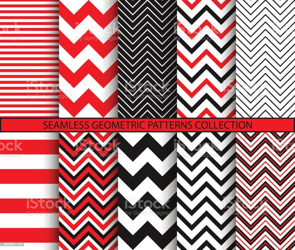 Seamless geometric patterns collection royalty-free seamless geometric patterns collection stock illustration - download image now