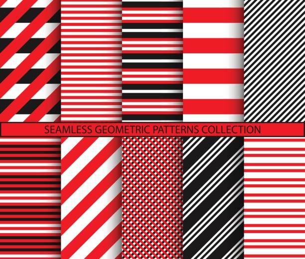 nahtlose geometrische muster-kollektion - breit stock-grafiken, -clipart, -cartoons und -symbole