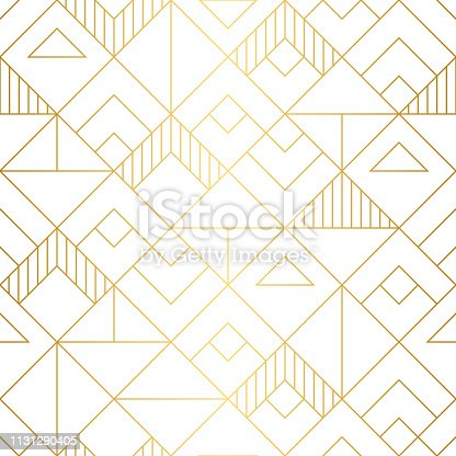 Elegant geometric vector pattern with repeat squares and lines.