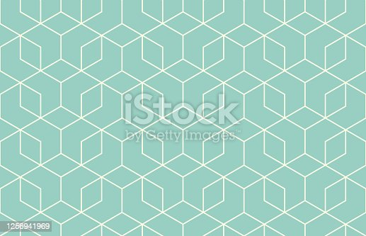 istock Seamless Geometric Vector Pattern 1256941969