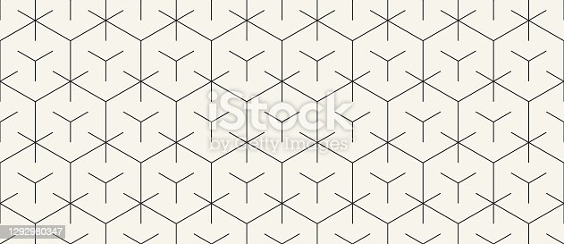 istock Seamless Geometric Vector Pattern 1292980347