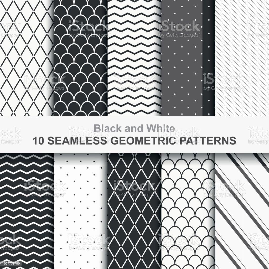 Ilustración de Patrones De Vectores Geométricos Sin Costura y más ...