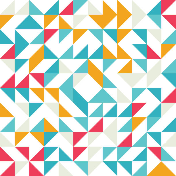 bezszwowe geometryczny, vintage wzór. z trójkątów. - triangel stock illustrations