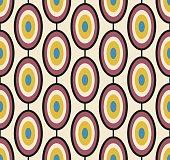 Seamless geometric vintage wallpaper vector