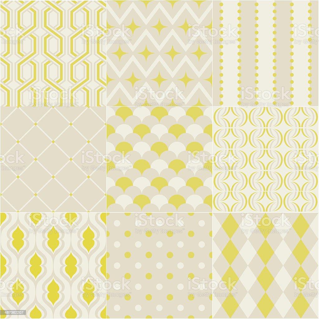 seamless geometric wallpaper vector art illustration