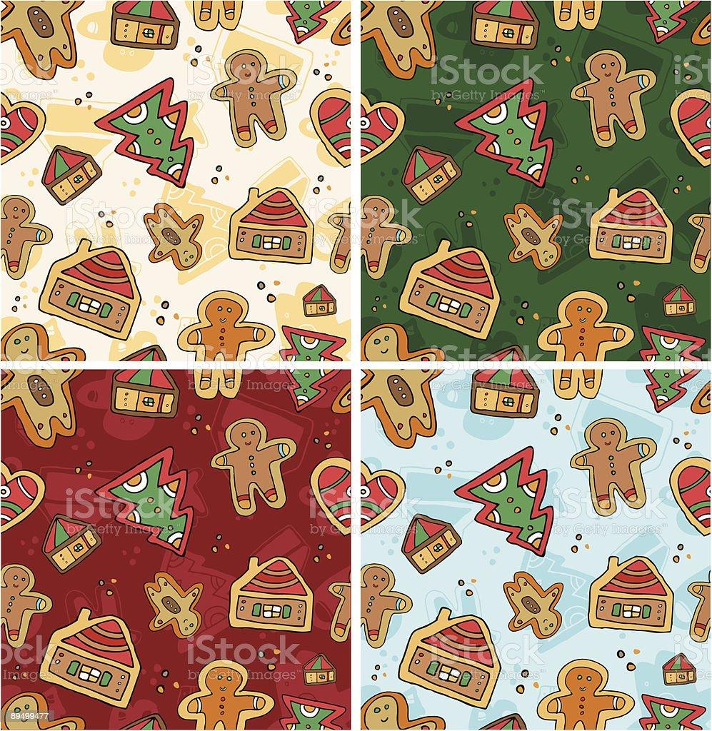 Seamless Gingerbread Pattern royaltyfri seamless gingerbread pattern-vektorgrafik och fler bilder på bildbakgrund