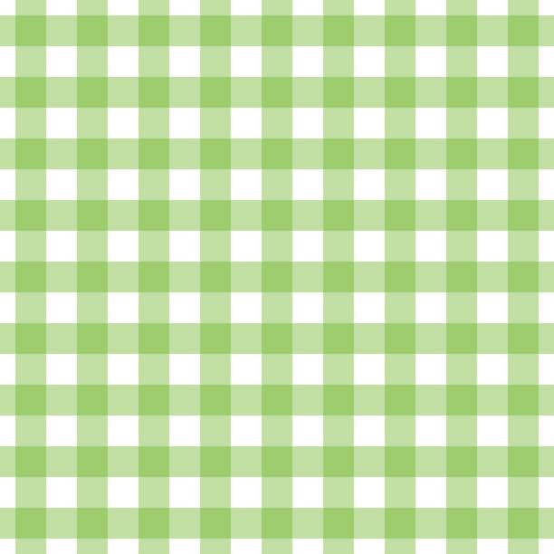 ilustraciones, imágenes clip art, dibujos animados e iconos de stock de estampado de cuadros de algodón sin costuras en verde y blanco. - fondos de franela