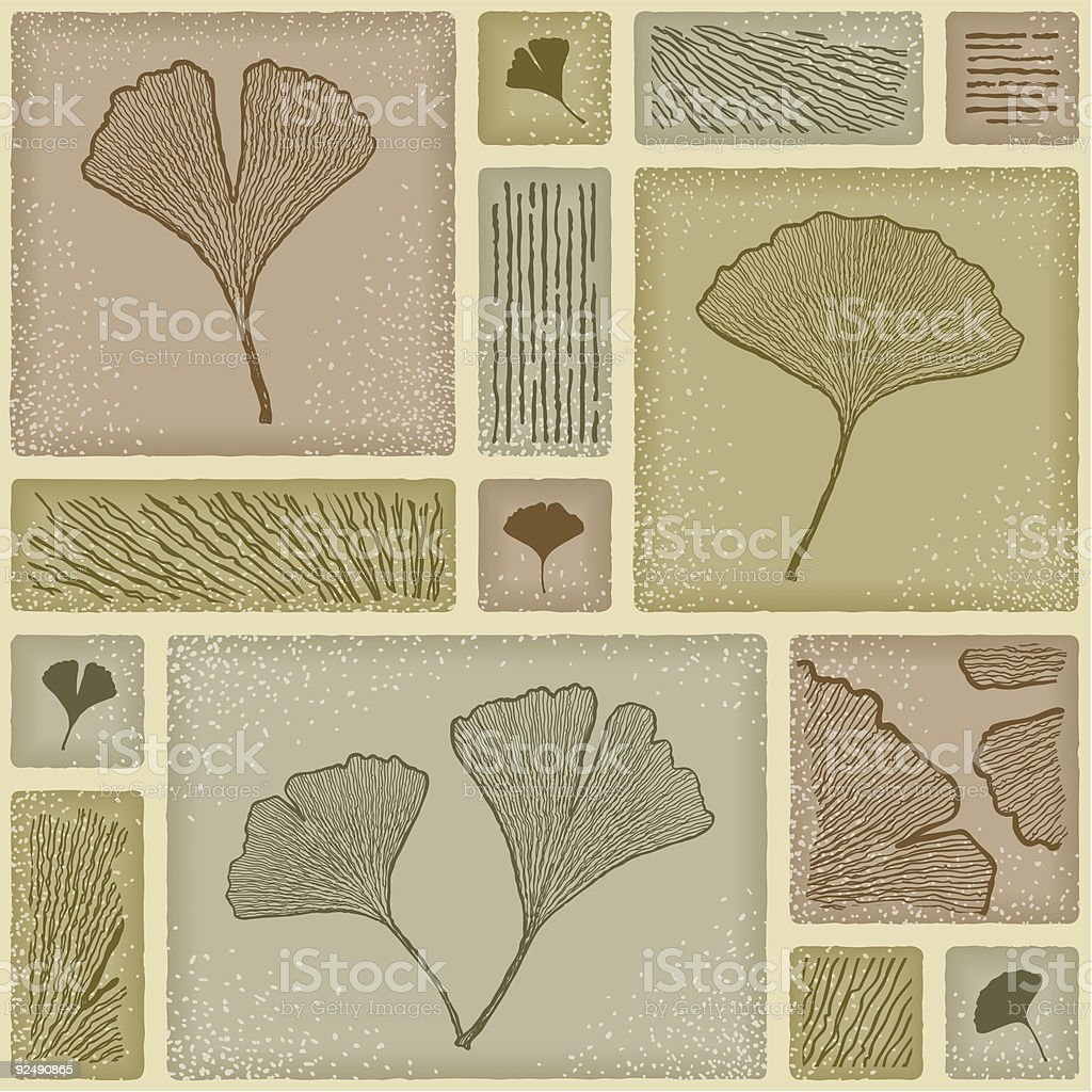 Seamless ginkgo pattern royalty-free seamless ginkgo pattern stock vector art & more images of ancient