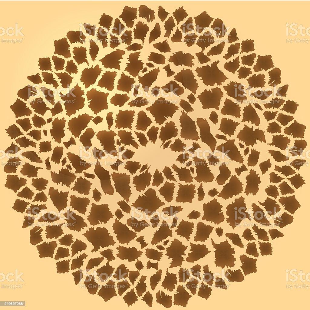 Seamless giraffe fur frame vector art illustration