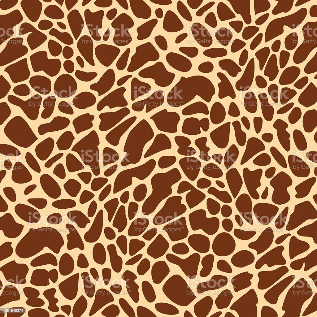 Seamless giraffe skin pattern vector art illustration