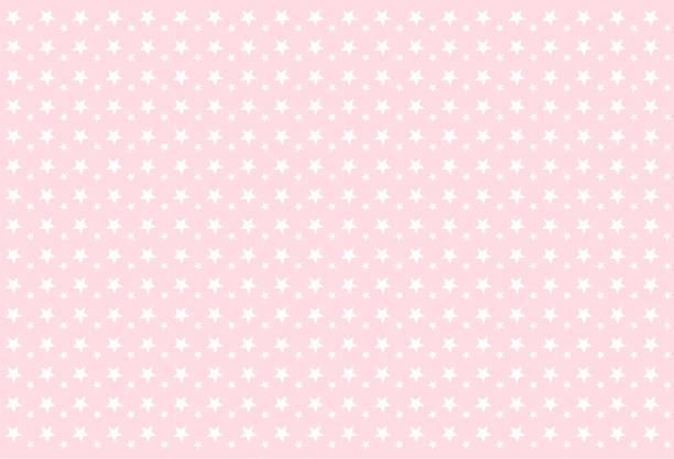 mädchenhafte musterdesign. weiße sterne auf rosa hintergrund. - tapete stock-grafiken, -clipart, -cartoons und -symbole