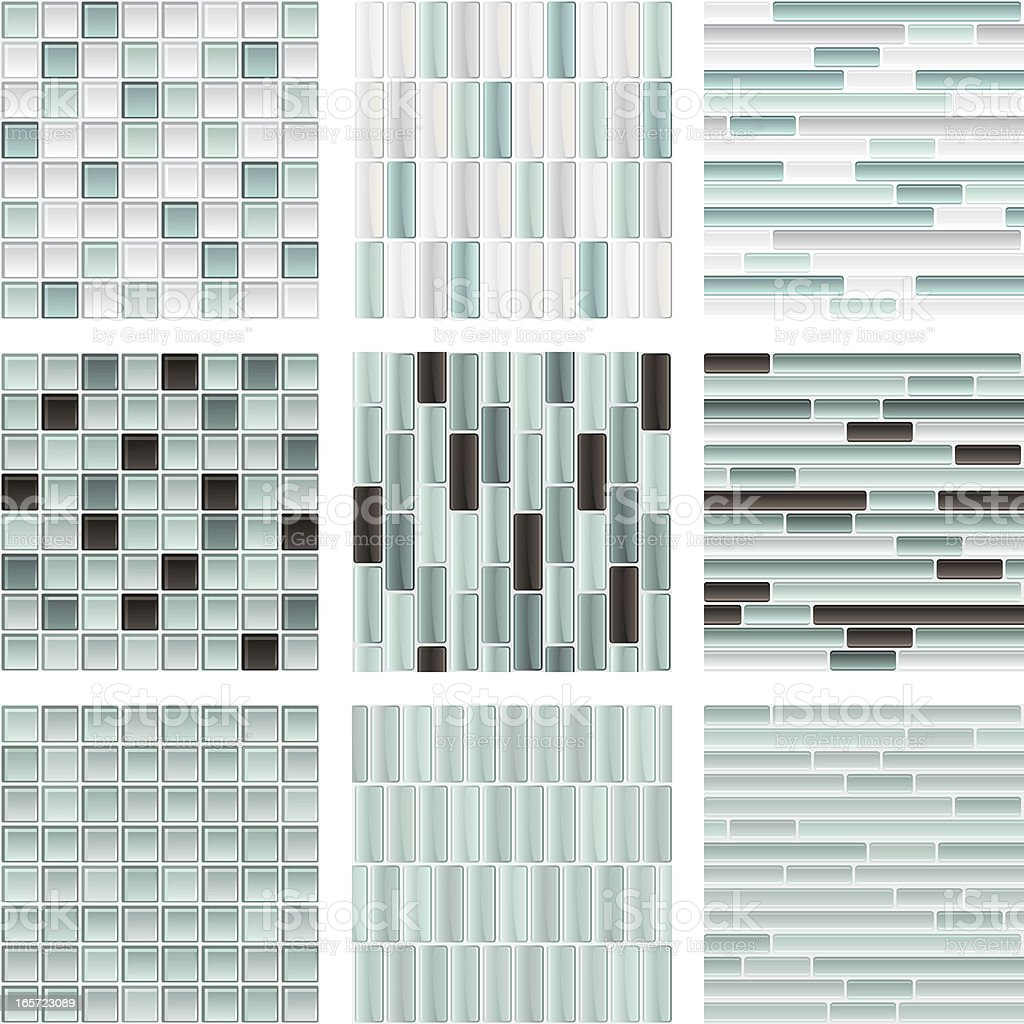 Seamless glass tile background royalty-free stock vector art