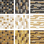 A collection of contemporary glass tile background.