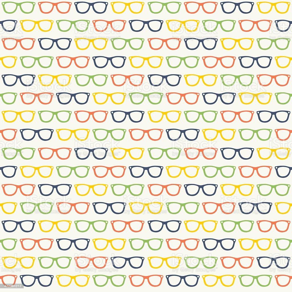 Seamless Glasses Pattern vector art illustration