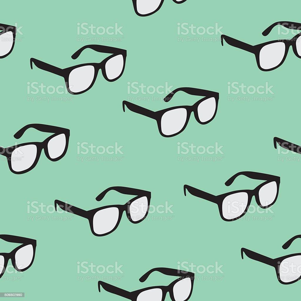 Seamless Glasses Pattern royalty-free stock vector art