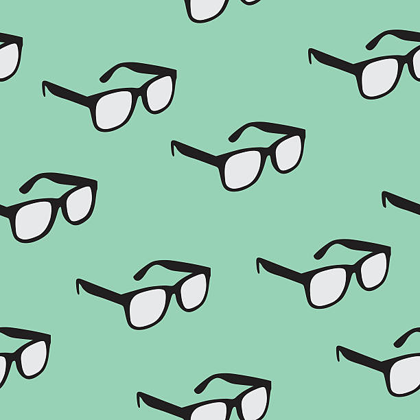 seamless glasses pattern - hipster fashion stock illustrations, clip art, cartoons, & icons