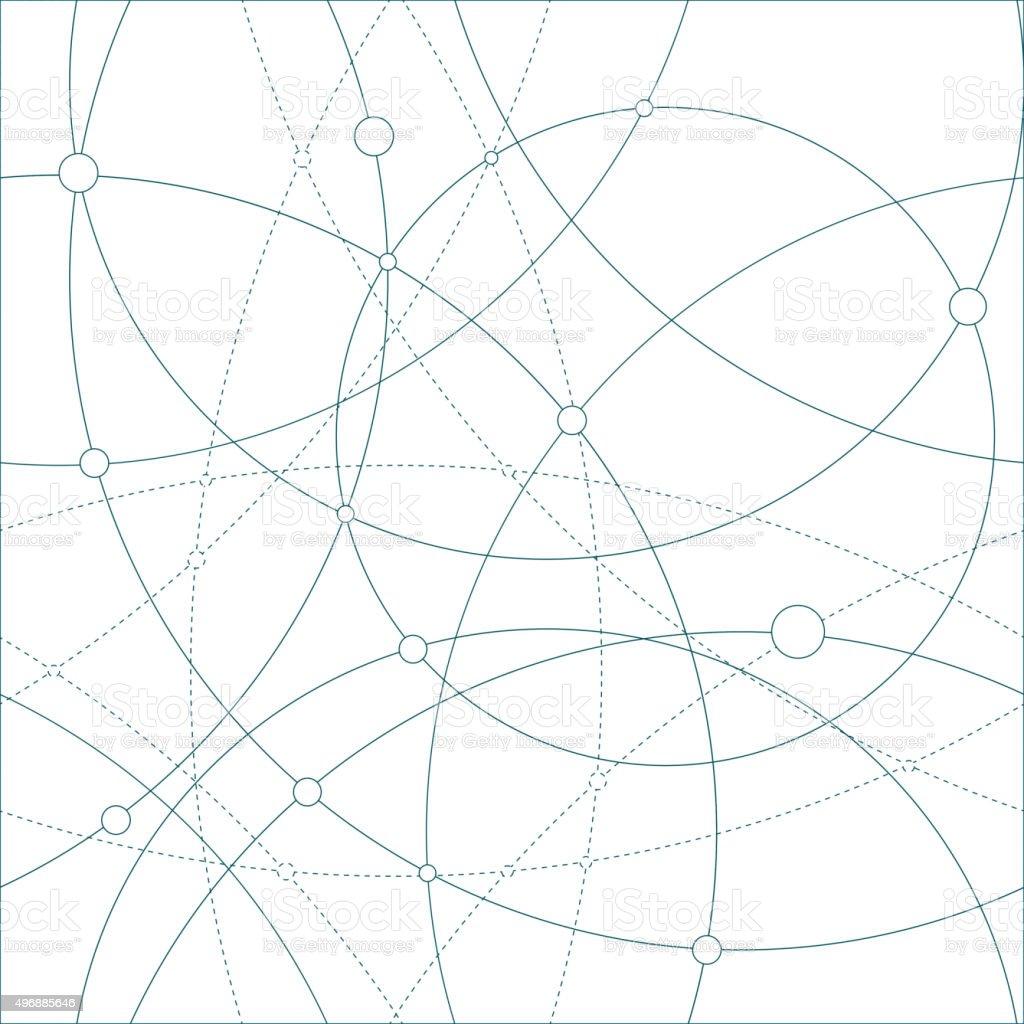 Seamless globes vector art illustration