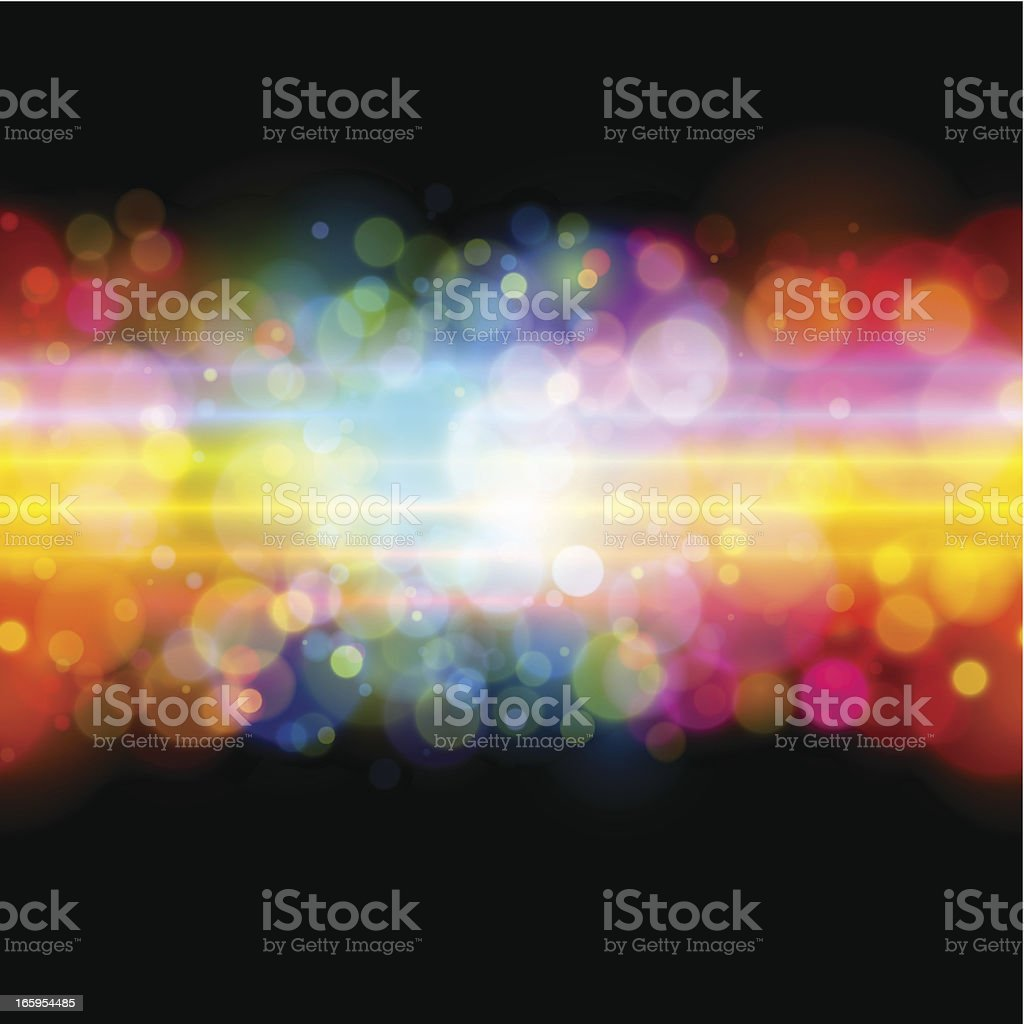 Seamless glowing rainbow background royalty-free stock vector art