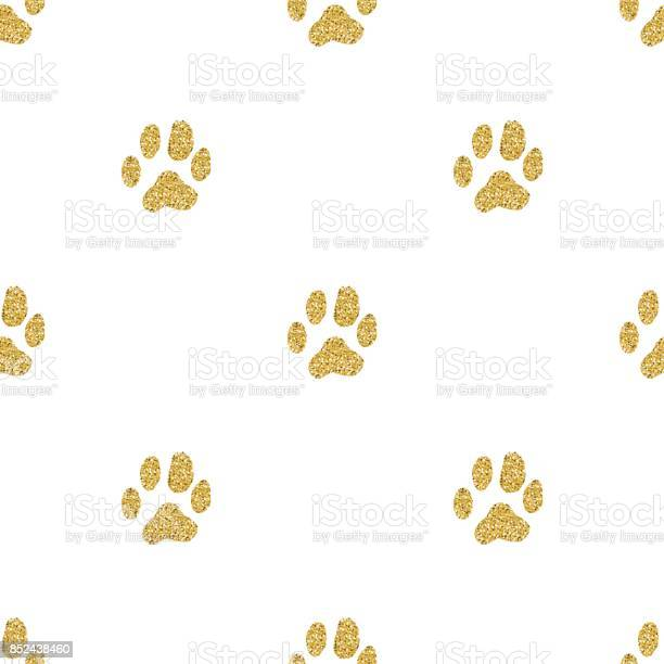 Seamless gold glitter animal track pattern on white background vector id852438460?b=1&k=6&m=852438460&s=612x612&h=yvavo3l irmcv0boblmqadtr2ybdustzutrb5ghvubm=