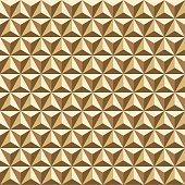 Seamless Gold Triangular Facet Pattern Texture
