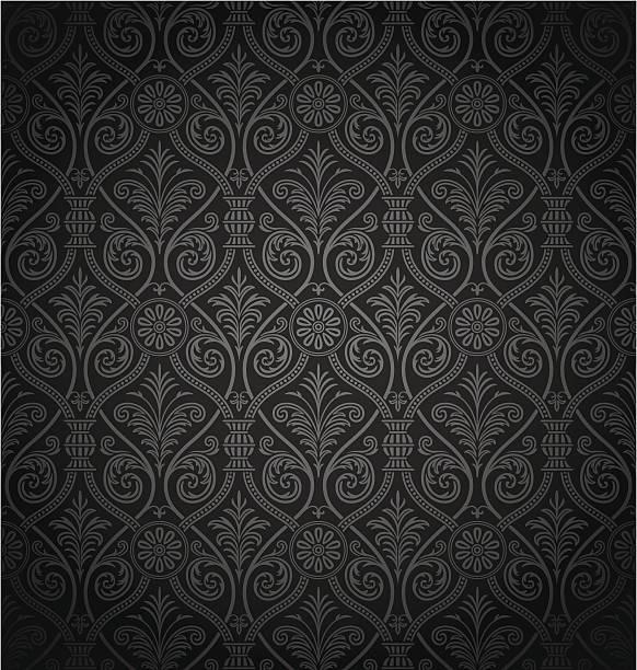 원활한 고트어 다마스크 패턴 - 왕족 stock illustrations