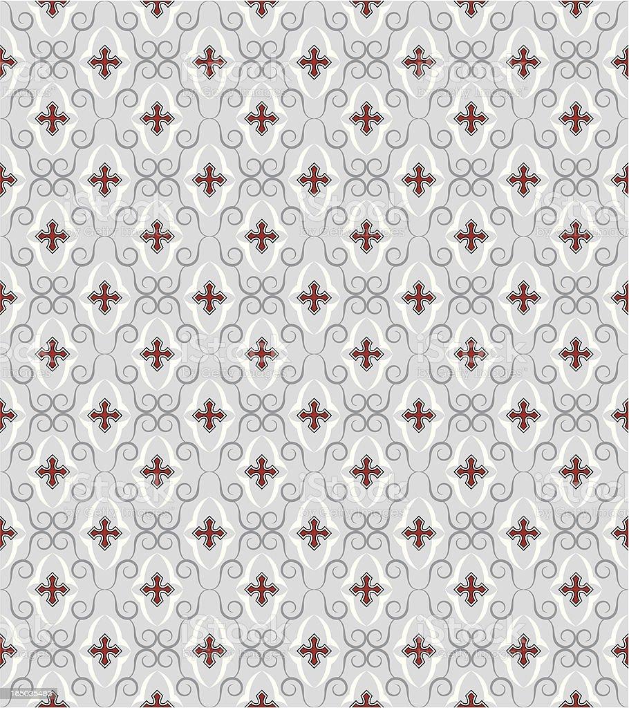 Seamless Gothic Wallpaper ( Vector ) vector art illustration