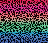 Seamless gradient leopard pattern