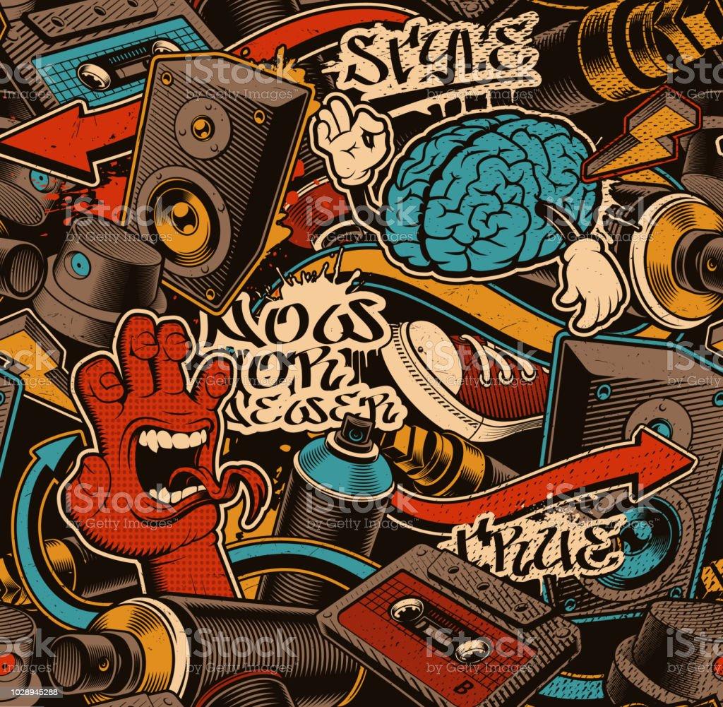 Seamless graffiti background royalty free seamless graffiti background stock vector art more