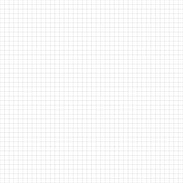 Seamless graph paper Graph paper, lines and dots. Seamless pattern. Vector gray background square composition stock illustrations