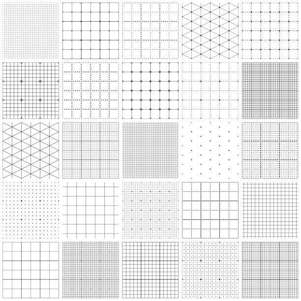 nahtloses graphen-papier - gitter stock-grafiken, -clipart, -cartoons und -symbole