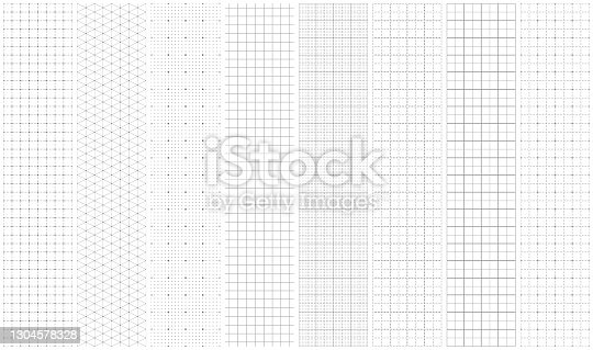 istock Seamless graph paper 1304578328