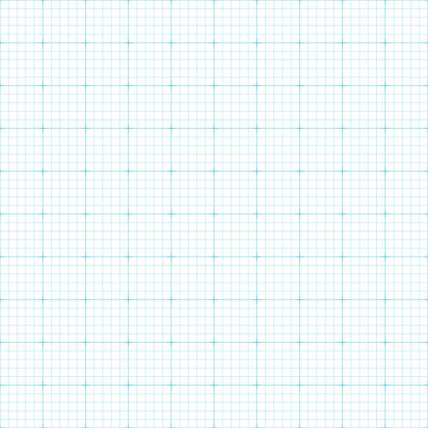 Seamless graph paper vector art illustration