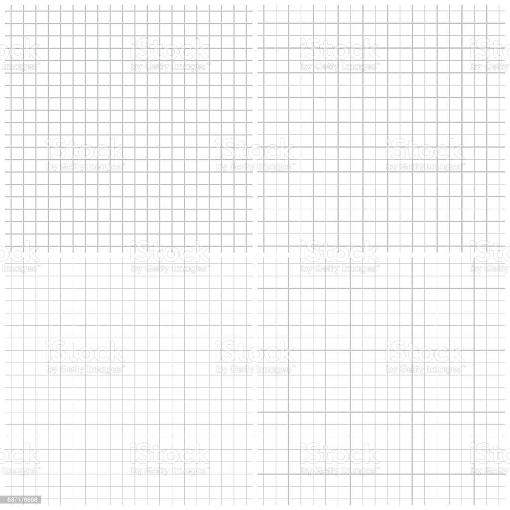 Seamless graph paper vector art illustration