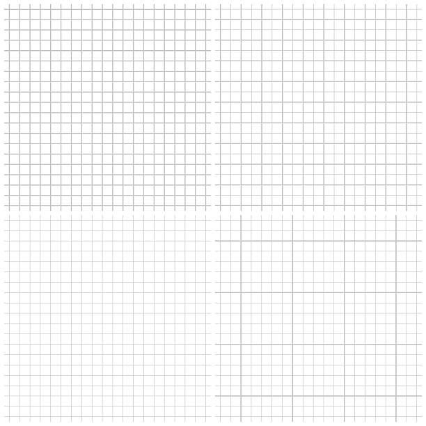 seamless graph paper - checked pattern stock illustrations