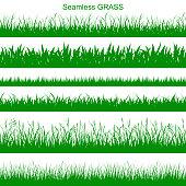 Set of seamless grass