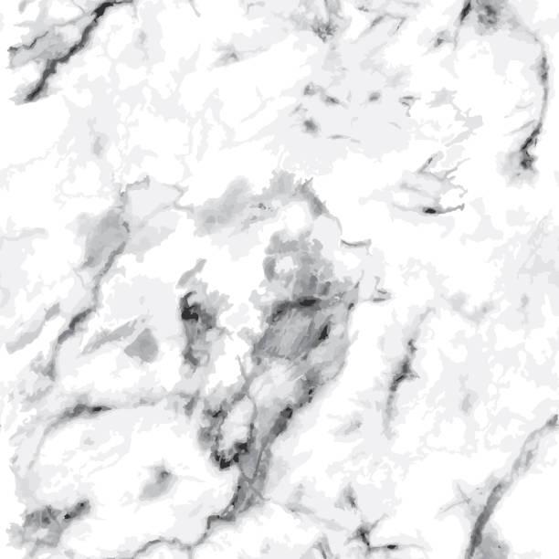 stockillustraties, clipart, cartoons en iconen met naadloos grijs marmerpatroon. luxe stenen textuur op wit - marmeren