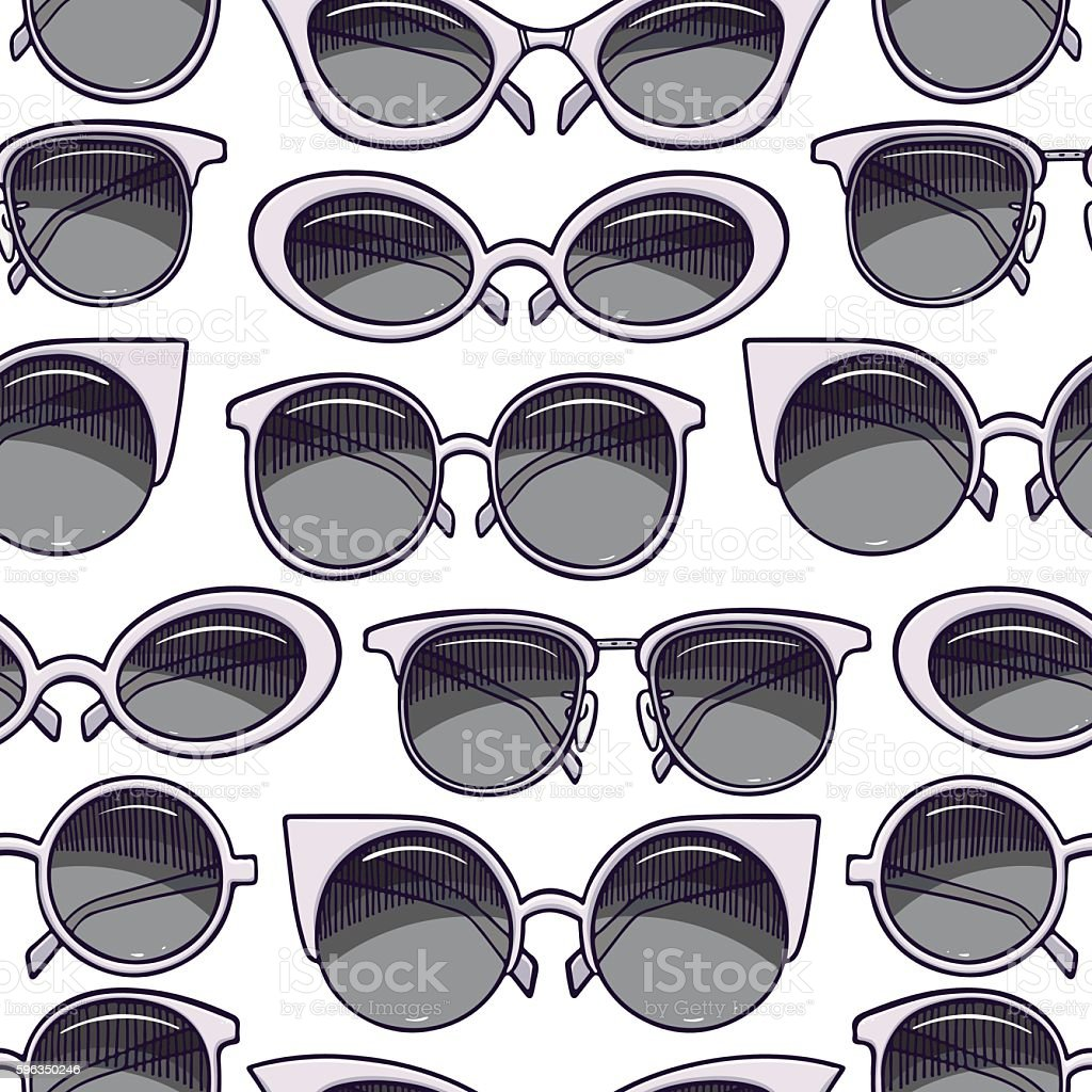Seamless gray sunglasses royalty-free seamless gray sunglasses stock vector art & more images of arts culture and entertainment