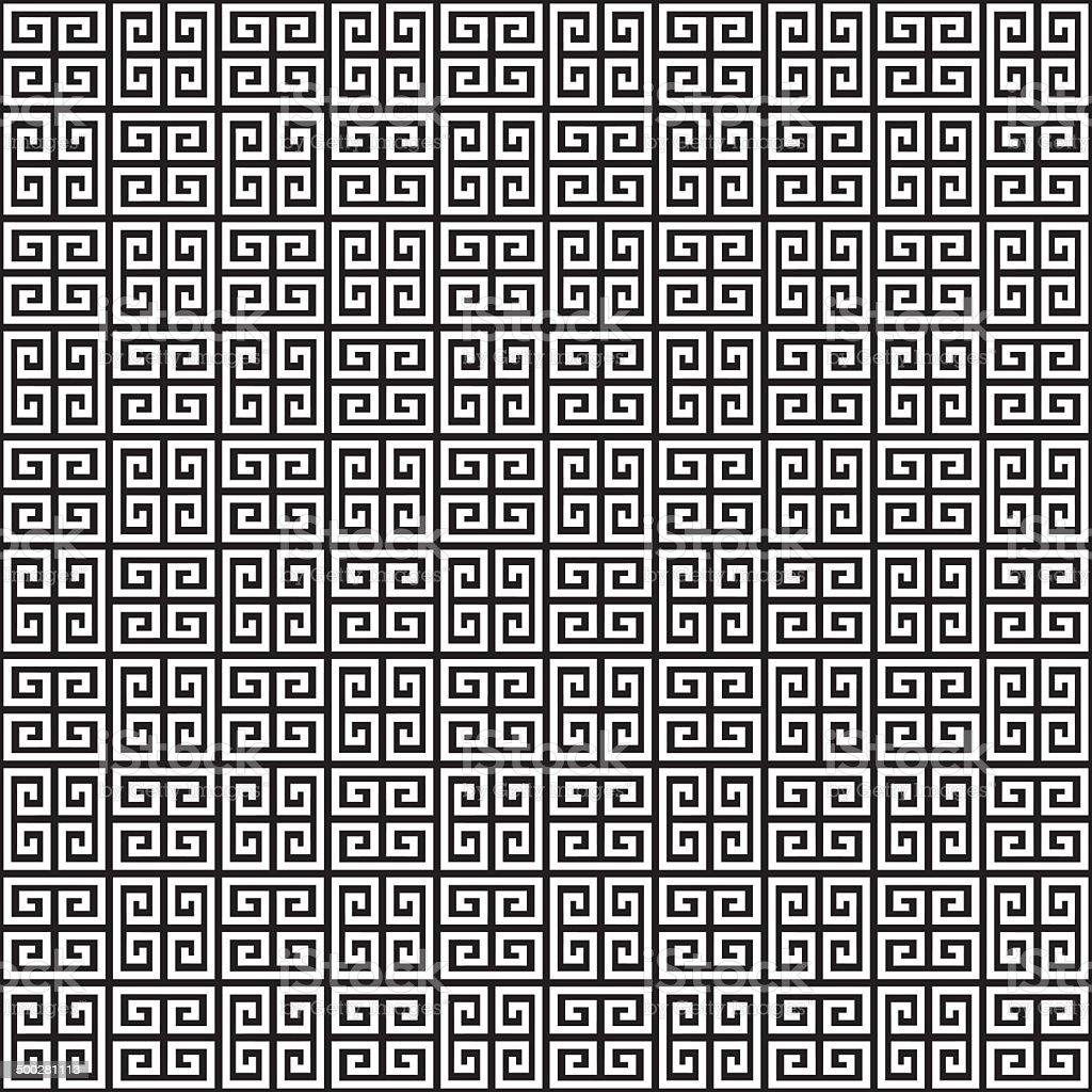 Seamless Greek Key Background Pattern Texture vector art illustration