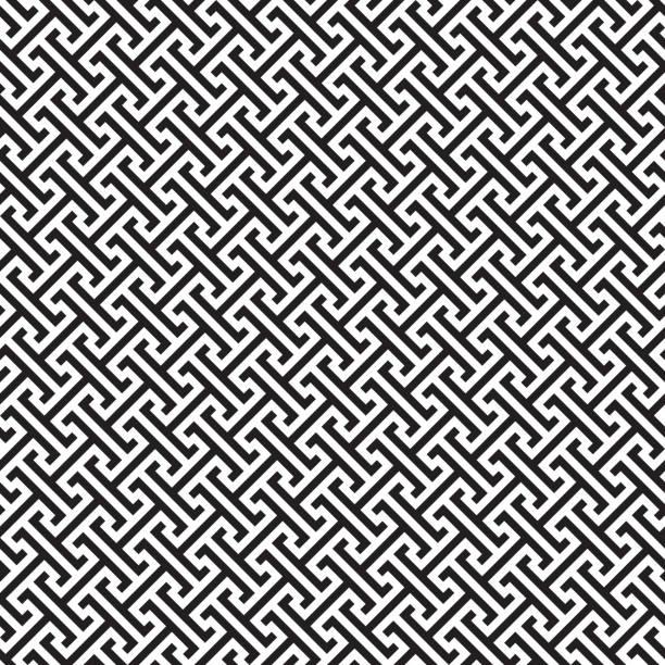 Seamless Greek Key Geometric Pattern Background Seamless Greek Key Geometric Pattern Background classical greek stock illustrations