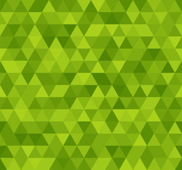 Seamless green abstract pattern. Geometric print composed of triangles and polygons. Background. vector art illustration