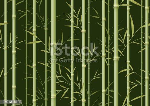 istock Seamless green bamboo background 1301315122
