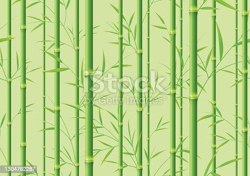 istock Seamless green bamboo background 1304762287